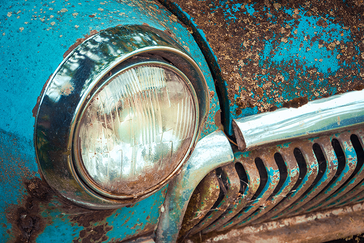 Classic Car Restoration Parts Cleaning Allard Vapour Blasting Services Gloucestershire