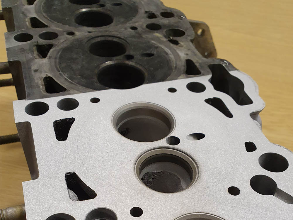 Allard Vapour Blasting Services High Pressure Cylinder Head Surface Cleaning